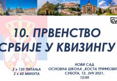 Rezultati: 10. prvenstvo Srbije u kvizingu, sezona 2020/2021.